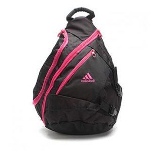 adidas NWT Reilly Sling Backpack Black Pink